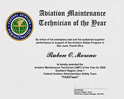 FAA Maintenance Technician of the Year